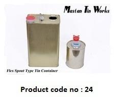 Flex Spout Tin Container