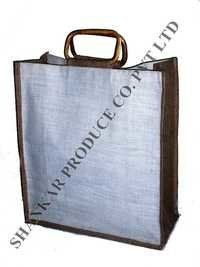 Cane Handle Jute Shopping Bag