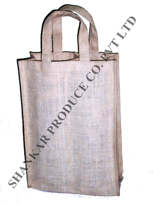 Jute Double Bottle Bag