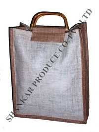 Jute Triple Bottle Bag