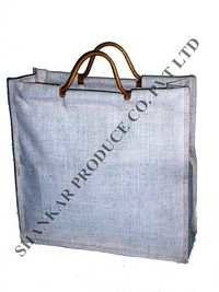 Wooden Handle Jute Shopping Bag