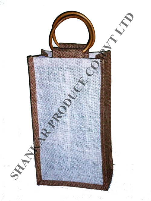 Jute Double Bottle Shopping Bag