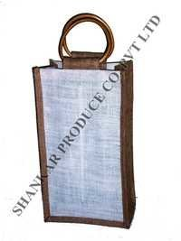 Jute Bag For Double Wine Bottles