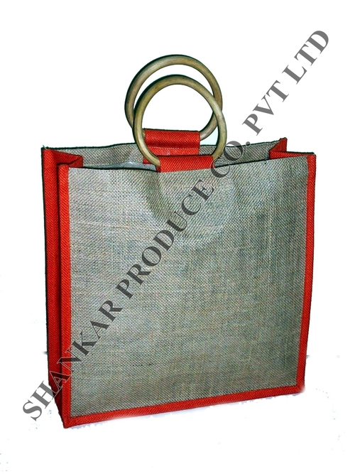 Jute Cane Handle Shopping Bag