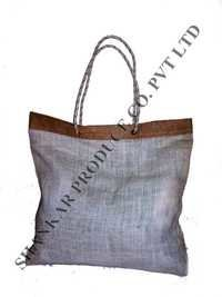 String Handle Jute Shoulder Bag