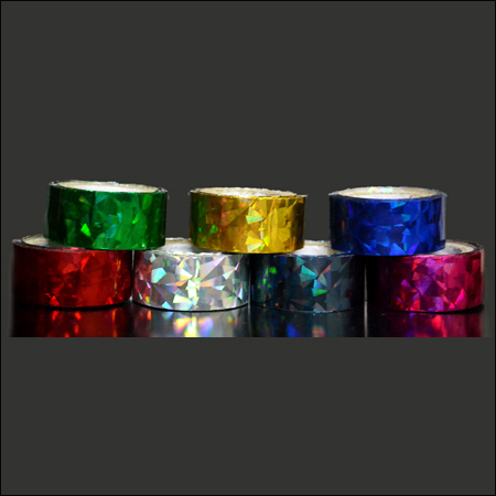 Coloured Holographic Tapes