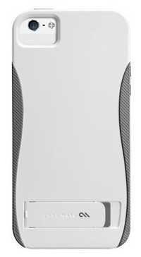 Case Mate POP w/Stand Case For iPhone 5 -White /Titamium Grey