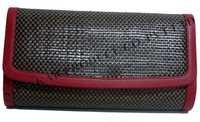 Leather Hand Weave Clutch Bag