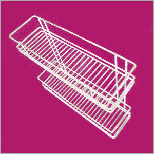 Stainless Steel Double Shelf Rack