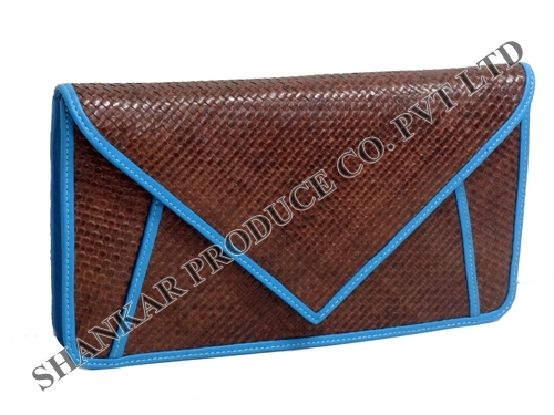 Leather Designer Clutch Bag