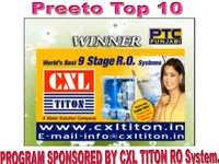 Program Sponsor By CXL TITON 9 Stage RO System