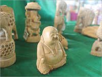 White Wood Statues