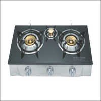 Gas Stove 3 Burner Automatic Glass Top