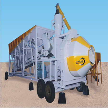 Concrete Batching Plant With Drum Mixer