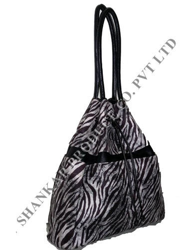 Animal Print Drawstring Tote Bag