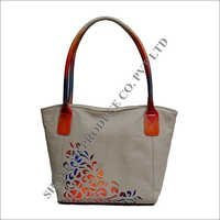 Leather Cutwork Bag