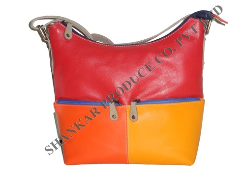 Multi Color Leather Body Bag