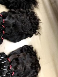 Temple Human Machine Weft Hair Extensions