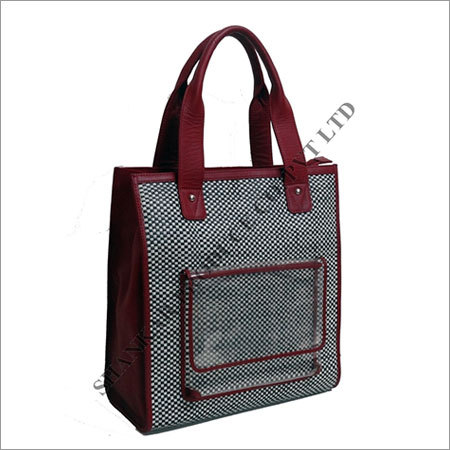 Leather Ladies Hand Woven Bag