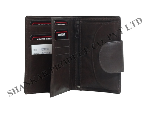 Cow Antique Leather Men's Standing Wallet