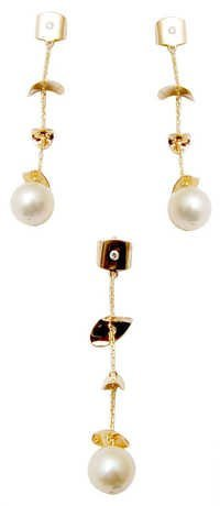 Wholesale indian jewelry, pearl drop pendent necklace set for gift