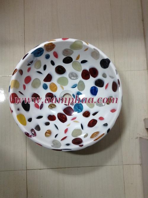 Coloured Glass Wash Basin