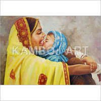 Mother And Child Oil Painting