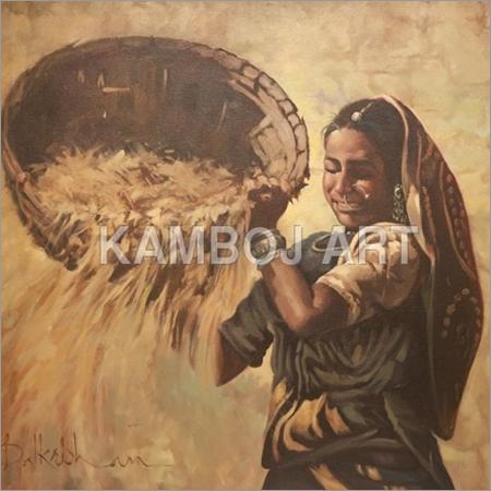 Folk Art Oil Paintings