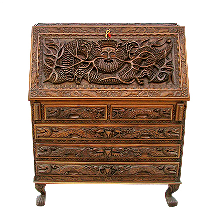 Wood Carving Drawer Chest