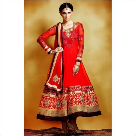 Orange Designer Salwar Suit
