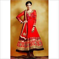 Orange Designer Salwar Suit