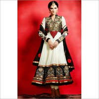 White & Black Pakistani Salwar Suit