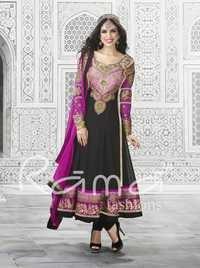 Black Long Pakistani Anarkali Salwar Suit