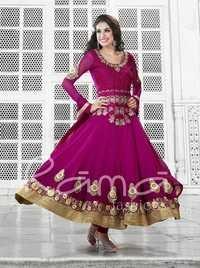 Exceptional Purple Churidar Salwar Suit