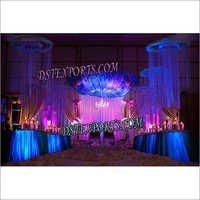 Latest Wedding Hanging Crystal Pillars