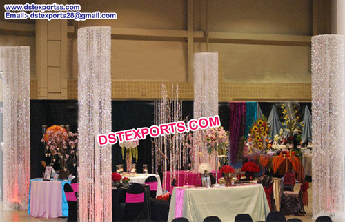 Wedding Designer Crystal Pillars