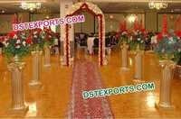 Wedding Aisleway Golden Roman Pillars