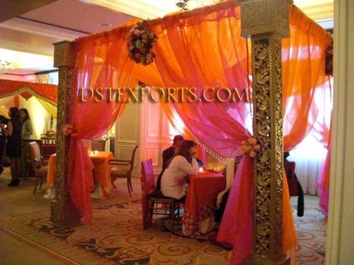 Wedding Wooden Carved Pillars