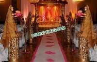 Wedding Golden Carved Aisleway Pillars