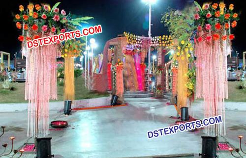 Wedding Aisleway Crystal Columns/Pedestals