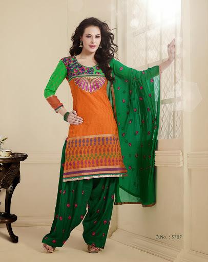 Orange Punjabi Suit
