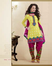 Yellow Chanderi Salwar Suit