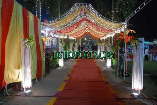 Wedding Aisle Way Crystal Pillars