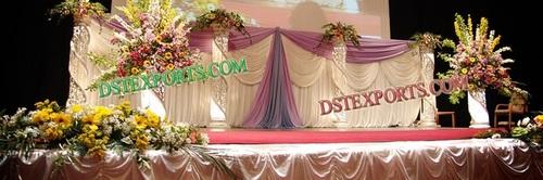 Wedding Stage Crystal Fiber Pillars