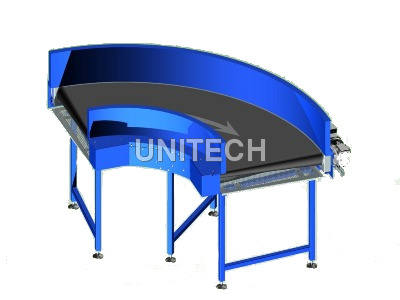 90 Degree Belt Bend Conveyor