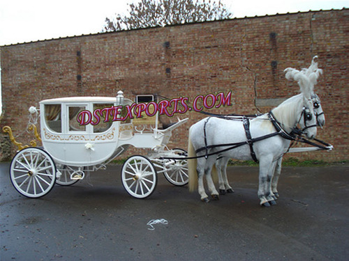 Beautiful Covered Horse Drawn Carriage