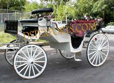 Decorated Victoria Horse Carriage