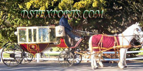Beautiful Covered Horse Carriage