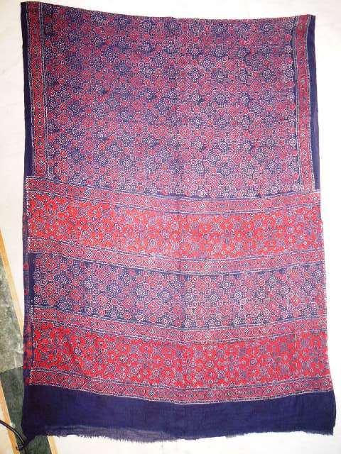 Ajrakh Prints Shawls and Stoles
