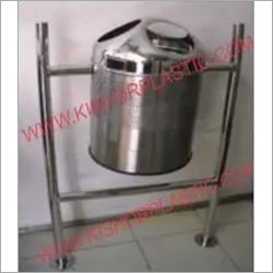 Stainless Steel Pole Hanging Dustbin